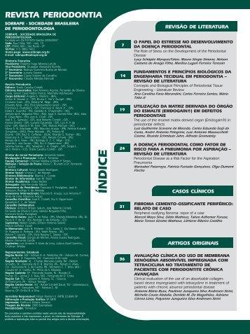 índice - Revista Sobrape