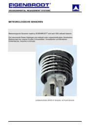 METEOROLOGISCHE SENSOREN - Eigenbrodt Gmbh & Co. KG