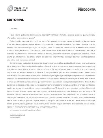 EDITORIAL - Revista Sobrape