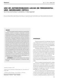 uso de antimicrobianos locais em periodontia ... - Revista Sobrape