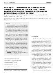 AVALIAÇÃO COMPARATIVA DA RUGOSIDADE ... - Revista Sobrape