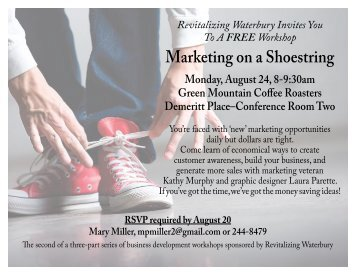Marketing on a Shoestring - Revitalizing Waterbury