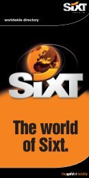 The world of Sixt. - Amadeus Cars Plus