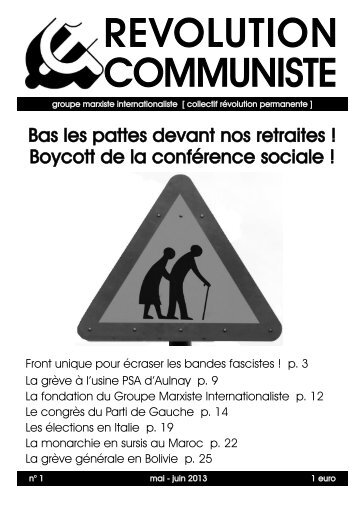 REVOLUTION COMMUNISTE - Groupe Bolchevik