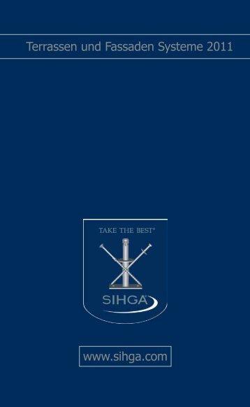 www.sihga.com Terrassen und Fassaden Systeme 2011 - Revotool