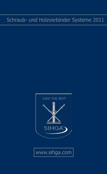 Schraub- und Holzverbinder Systeme 2011 www.sihga.com - Revotool