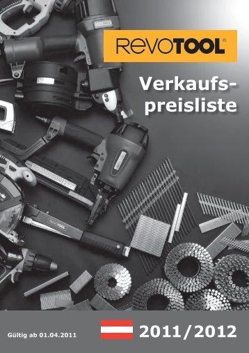 Verkaufs- preisliste - Revotool