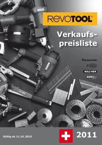 Verkaufs- preisliste 2011 - Revotool