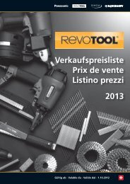 Verkaufspreisliste Prix de vente Listino prezzi 2013 - Revotool