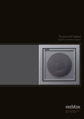 Du son et de l'espace - Revox