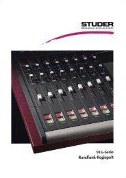 91 6-Serie Rundfunk-Regiepult - Revoxsammler