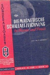 Die magnetische Schallaufzeichnung (PDF, 24MB) - AVC-Studio