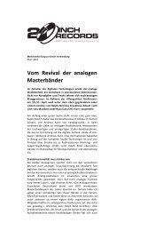 2Inch-Records März 2010 - Revoxsammler