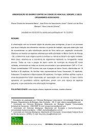 ARBORIZAÇÃO DO BAIRRO CENTRO DA CIDADE DE ARACAJU ...