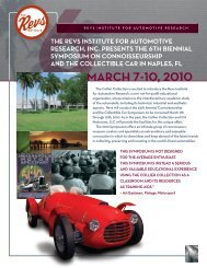 2010 Symposium Brochure - The Revs Institute