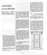 ARMOIRES ALSACIENNES - Revue des sciences sociales