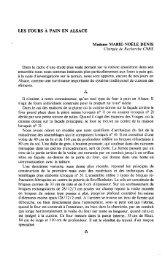 LES FOURS À PAIN EN ALSACE Madame MARIE-NOËLE DENIS ...