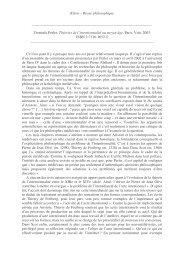 Klēsis – Revue philosophique Dominik Perler, Théories de l - Klesis