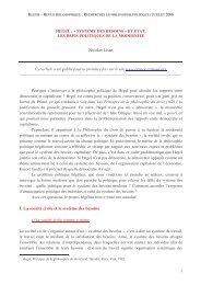 Nicolas Lisan I. La société civile et le système des besoins - Klesis