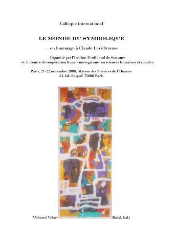 Colloque international Le Monde du Symbolique — en ... - Texto
