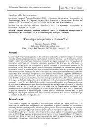 Sémantique interprétative et textométrie