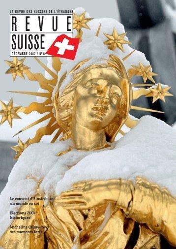 Le couvent d'Einsiedeln: un monde en soi Élections 2007 ...