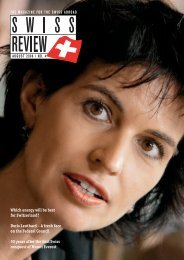 Which energy will be best for Switzerland? Doris ... - Schweizer Revue