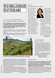 Regionalausgabe Deutschland 1/14 - Schweizer Revue