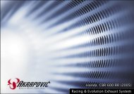 Honda CBR 600 RR (2005) Racing & Evolution Exhaust ... - Akrapovic