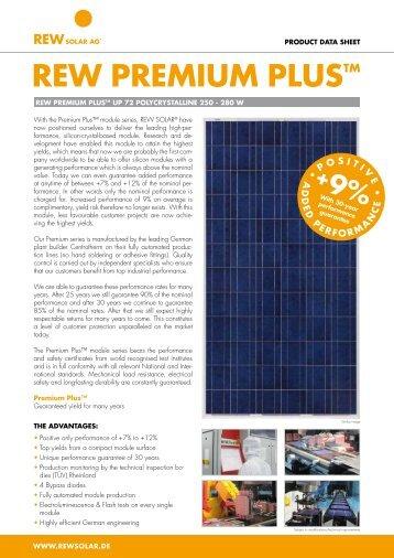REW 250-280 Premium Plus UP 72 Datasheet - REW Solar