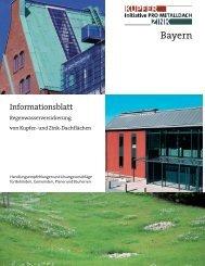 Informationsblatt Regenwasserversickerung von Kupfer- und Zink ...