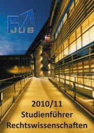 Studienführer als PDF zum Download - rewi.at | FV Jus | UniGraz