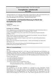 Europäisches Arbeitsrecht Material 1