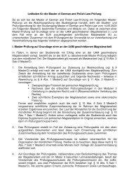 Leitfaden für die Master of German and Polish Law-Prüfung Da es ...