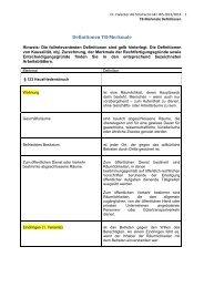 TB-Merkmale Definitionen