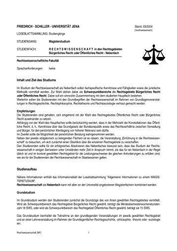 loseblattma - Rechtswissenschaftliche Fakultät - Friedrich-Schiller ...