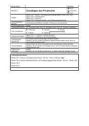 Modul II - Rechtswissenschaftliche Fakultät