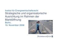 Strategische und organisatorische Ausrichtung im Rahmen der ...