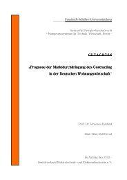 Prognose der Marktdurchdringung des Contracting in der ...