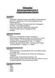 Hilfsmittel Schwerpunktbereich 6 (Internationales Recht)