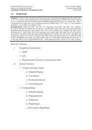 6 Rechtsschutz Inhalt der Vorlesung: I. Europäische Gerichtsbarkeit ...