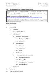 § 2 Die Bauleitplanung im System des Planungsrechts Inhalt der ...