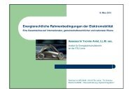 Energierechtliche Rahmenbedingungen der Elektromobilität
