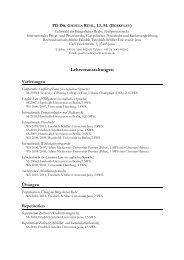 Lehrveranstaltungen - Rechtswissenschaftliche Fakultät - Friedrich ...