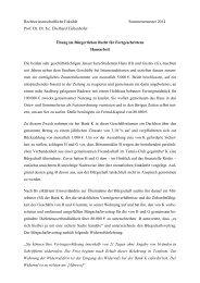 Rechtswissenschaftliche Fakultät Sommersemester 2014 Prof. Dr ...