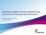 Rechtliche Aspekte der Netzentgeltbefreiung aus Sicht des ...