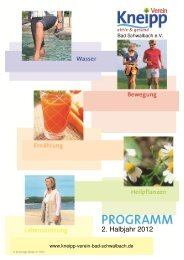 klicken: Programm Kneipp Verein Bad Schwalbach  2