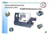 Universaldrehmaschine Universal Lathe TC400 ... - Litz Hitech Corp.