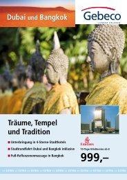 Träume, Tempel und Tradition Dubai und Bangkok