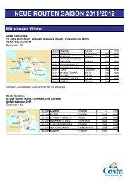NEUE ROUTEN SAISON 2011/2012